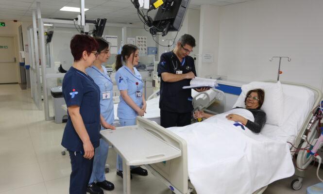 Doctor and nurses taking care of nurses