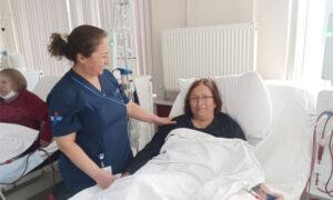 Nurse looking after Dialysis Patient